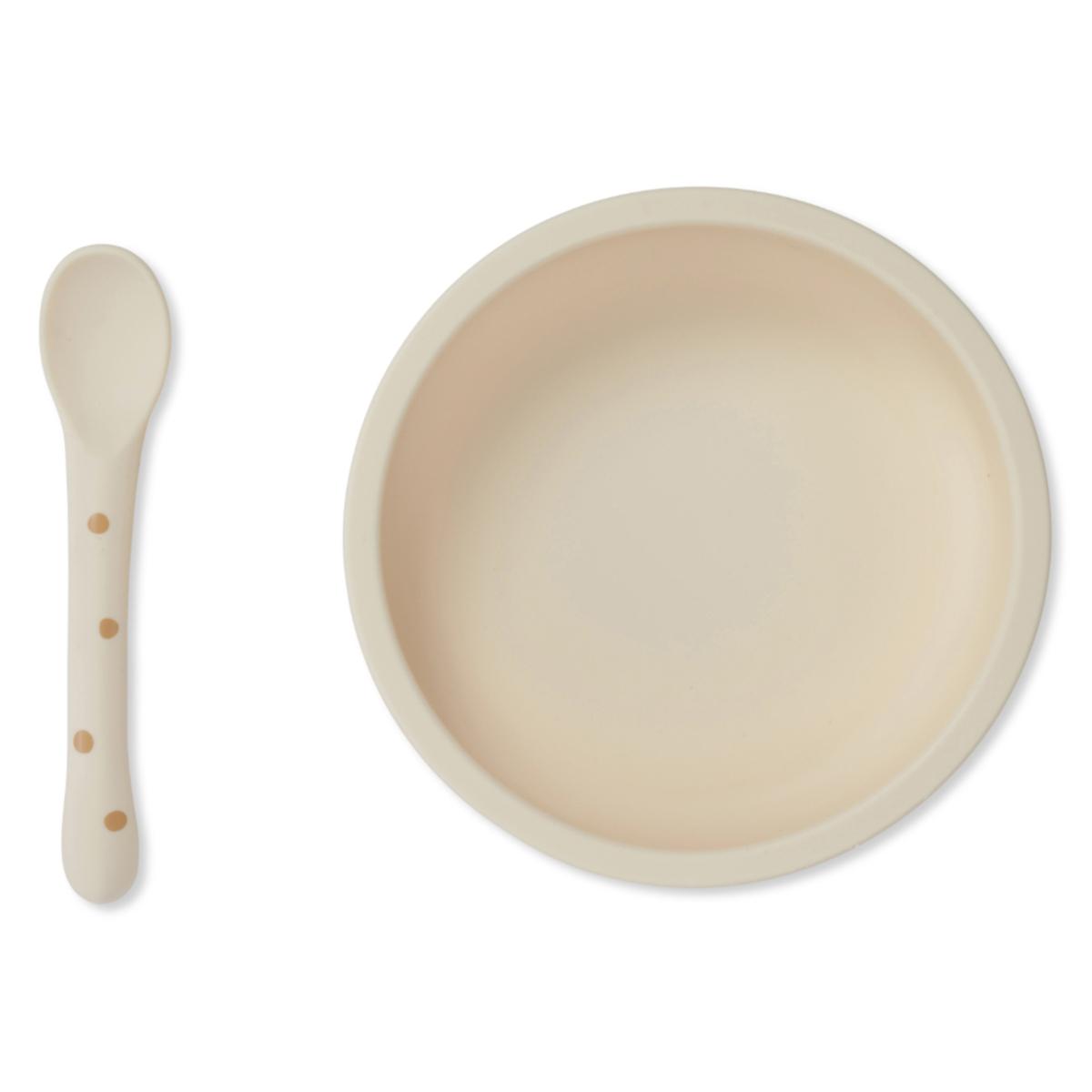 Coffret repas Set Repas en Silicone Antidérapant 2 Pièces - Terracotta Dot Set Repas en Silicone Antidérapant 2 Pièces - Terracotta Dot