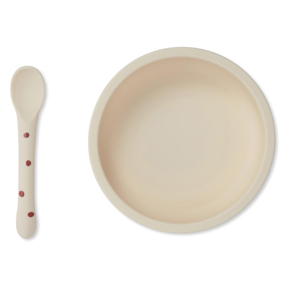 Coffret repas Set Repas en Silicone Antidérapant 2 Pièces - Raspberry & Red Dot Set Repas en Silicone Antidérapant 2 Pièces - Raspberry & Red Dot