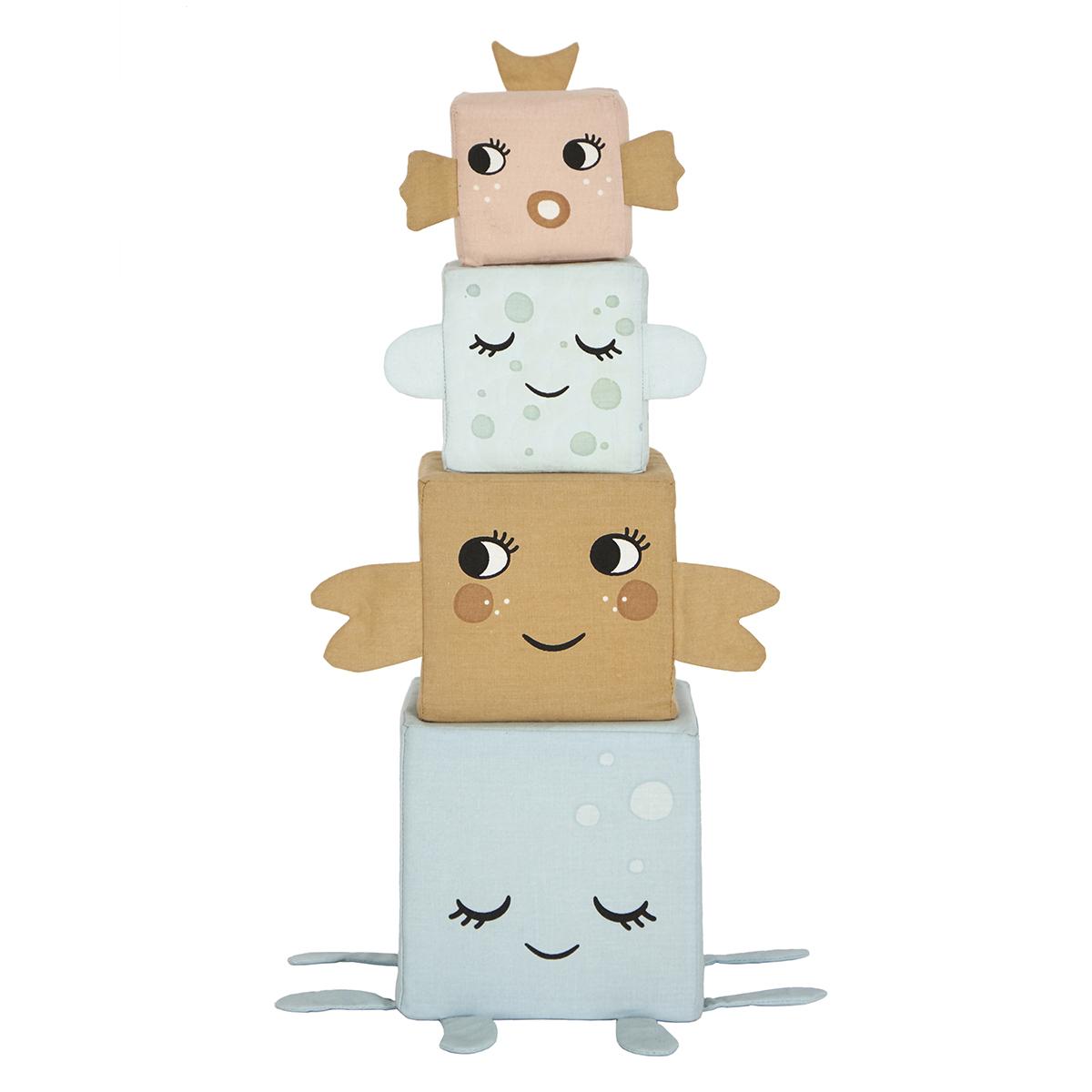 Mes premiers jouets Cubes en Tissu Les Animaux de la Mer Cubes en Tissu Les Animaux de la Mer