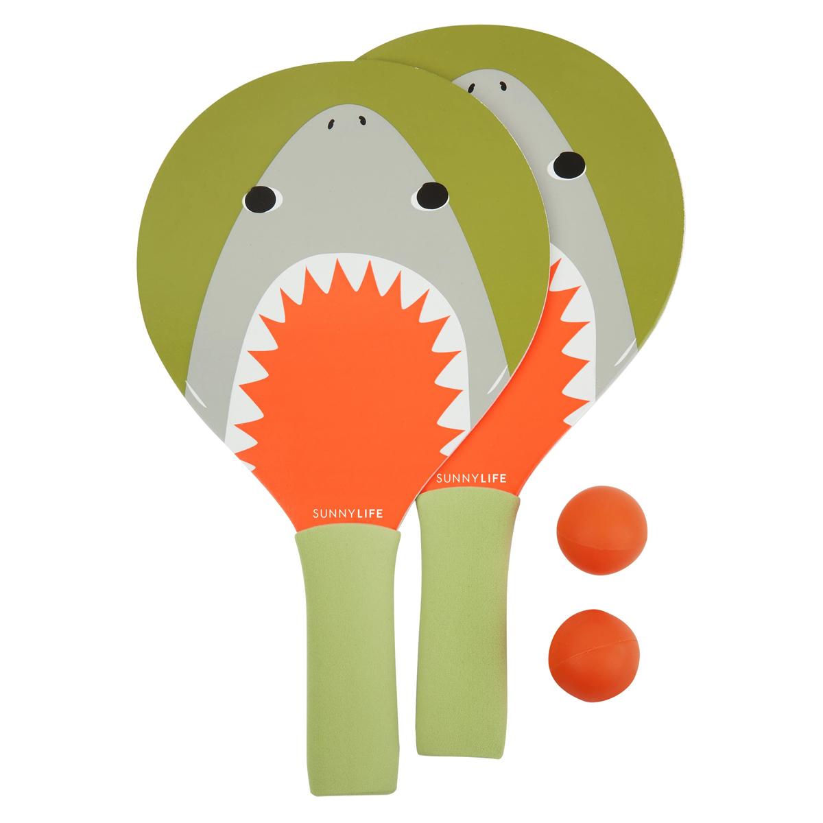Mes premiers jouets Mini Raquettes de Plage - Requin Mini Raquettes de Plage - Requin