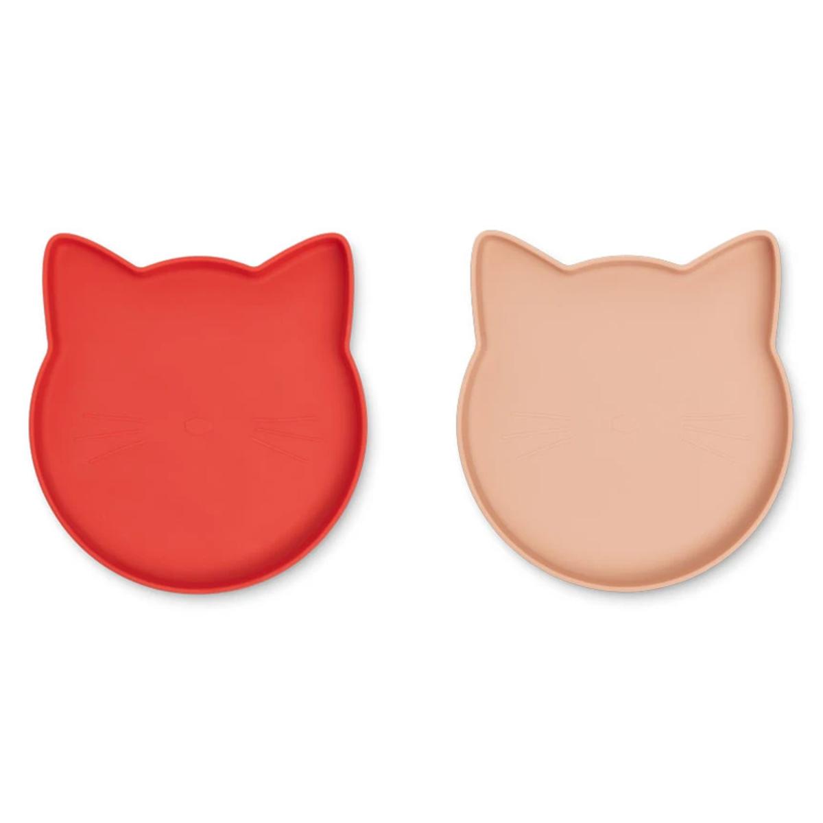 Vaisselle & Couvert Lot de 2 Assiettes Olivia Marty - Cat Apple Red Tuscany Rose Mix Lot de 2 Assiettes Olivia Marty - Cat Apple Red Tuscany Rose Mix