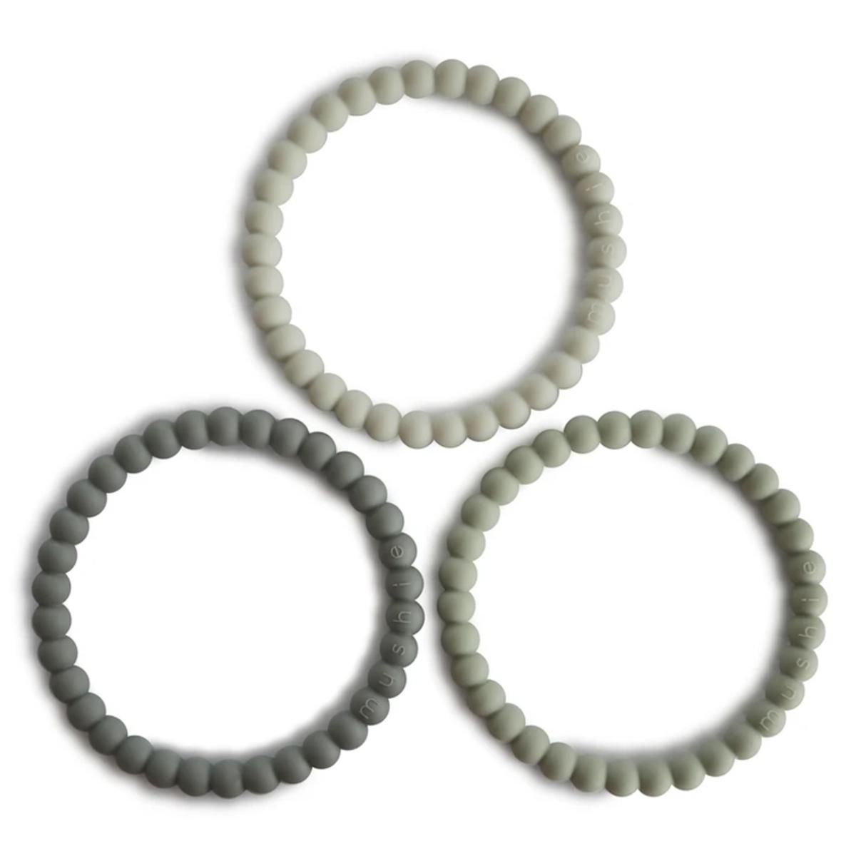 Dentition Lot de 3 Bracelets de Dentition - Green Tea Cool Grey & Sea Salt Lot de 3 Bracelets de Dentition - Green Tea Cool Grey & Sea Salt