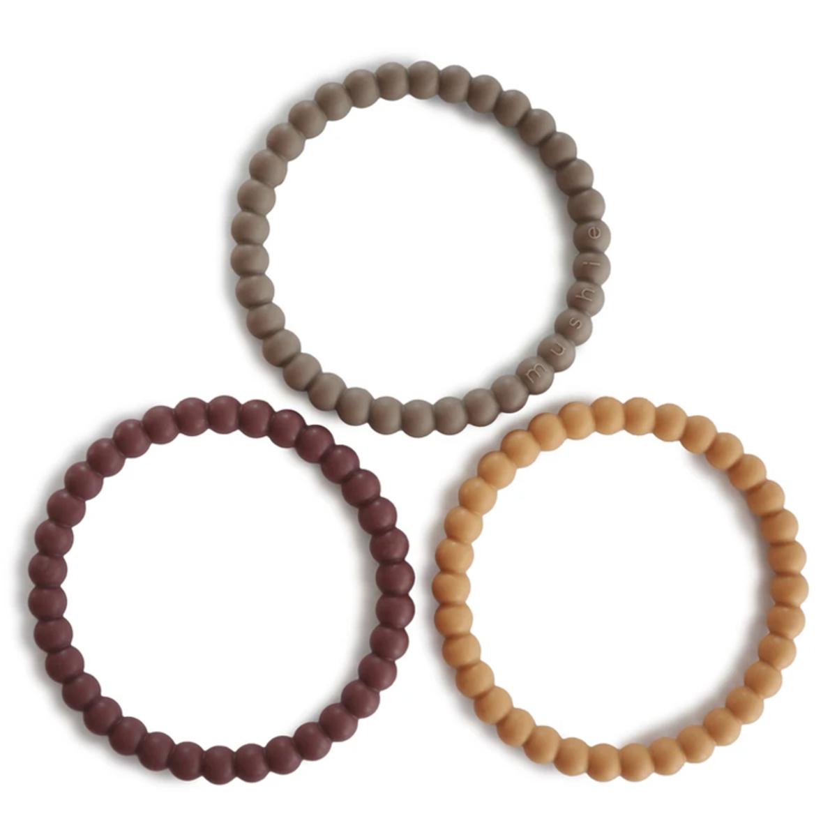 Dentition Lot de 3 Bracelets de Dentition - Berry Marigold & Khaki Lot de 3 Bracelets de Dentition - Berry Marigold & Khaki