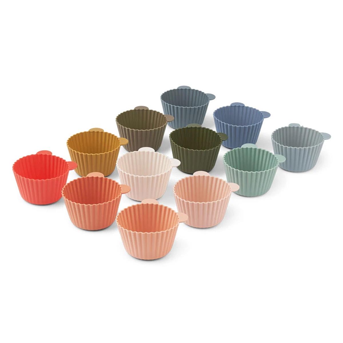 Vaisselle & Couvert Lot de 12 Moules à Cupcakes Jerry - Multi Mix Lot de 12 Moules à Cupcakes Jerry - Multi Mix