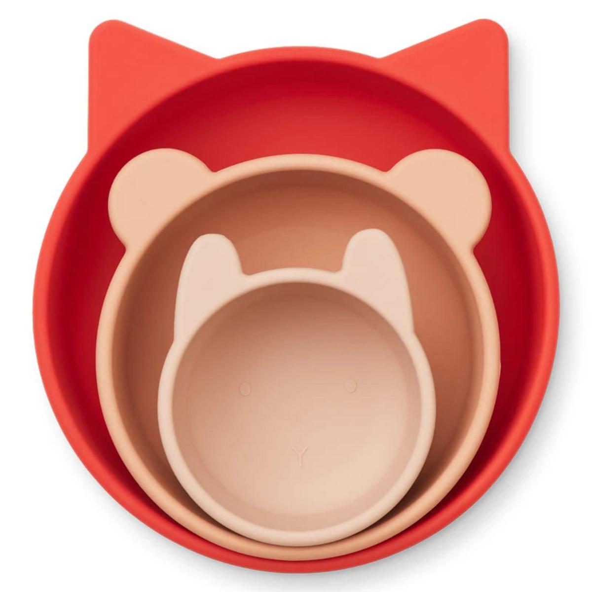 Vaisselle & Couvert Lot de 3 Bols Eddies - Apple Red & Rose Multi Mix Lot de 3 Bols Eddies - Apple Red & Rose Multi Mix