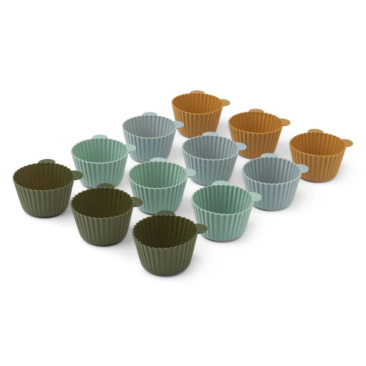 Vaisselle & Couvert Lot de 12 Moules à Cupcakes Jerry - Green Multi Mix Lot de 12 Moules à Cupcakes Jerry - Green Multi Mix