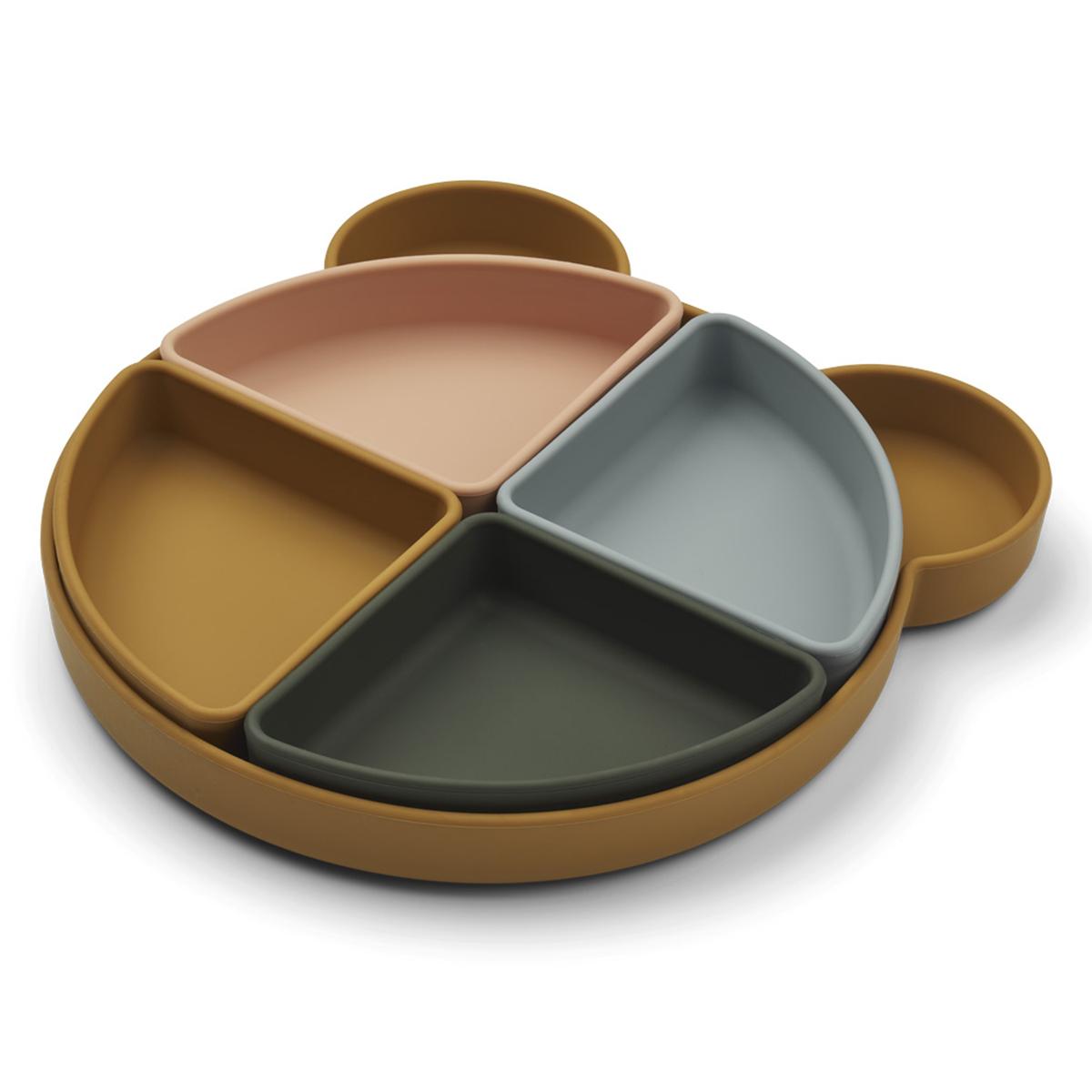 Vaisselle & Couvert Assiette Compartimentée Arne - Mr Bear Golden Caramel Multi Mix Assiette Compartimentée Arne - Mr Bear Golden Caramel Multi Mix
