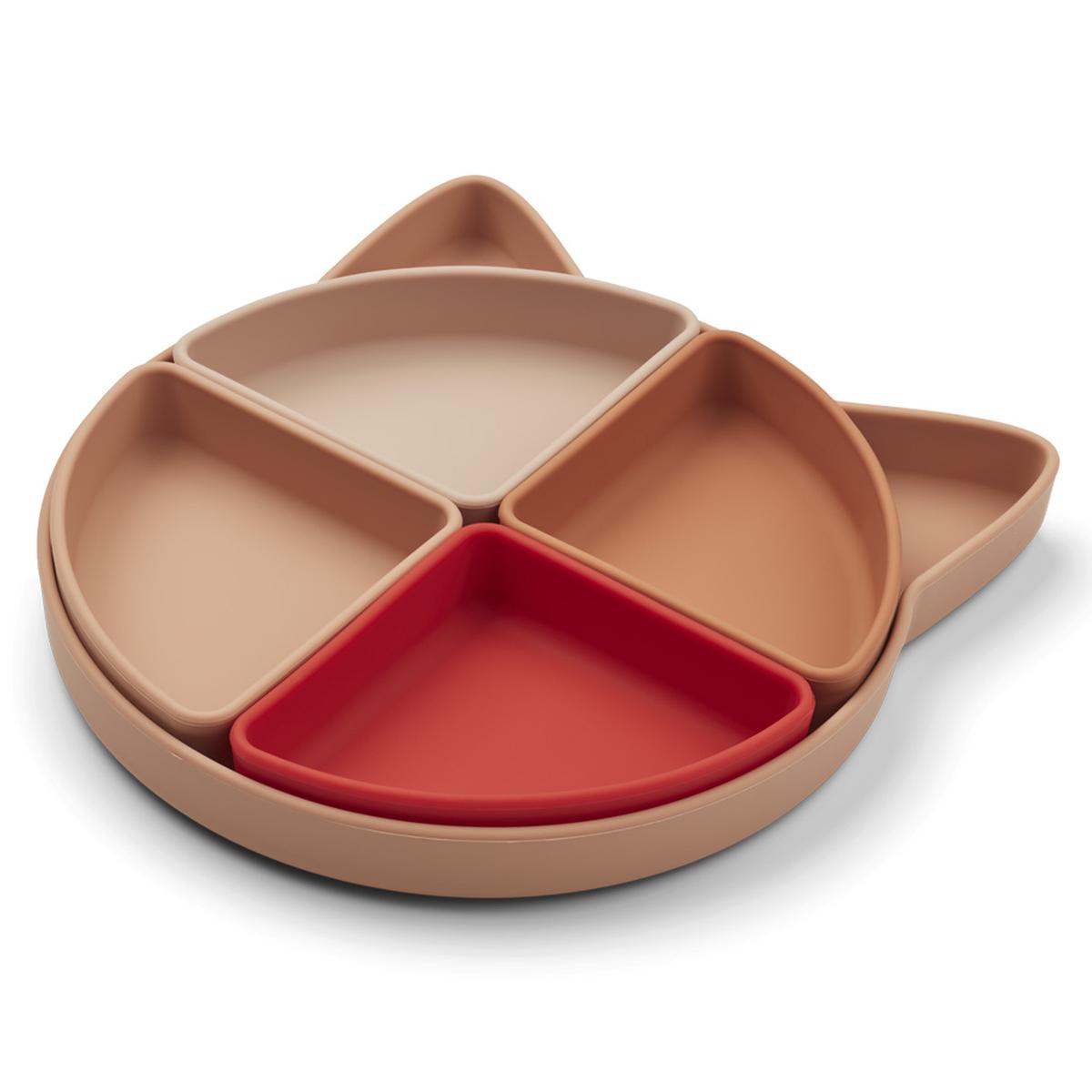Vaisselle & Couvert Assiette Compartimentée Arne - Cat Tuscany Rose Multi Mix Assiette Compartimentée Arne - Cat Tuscany Rose Multi Mix