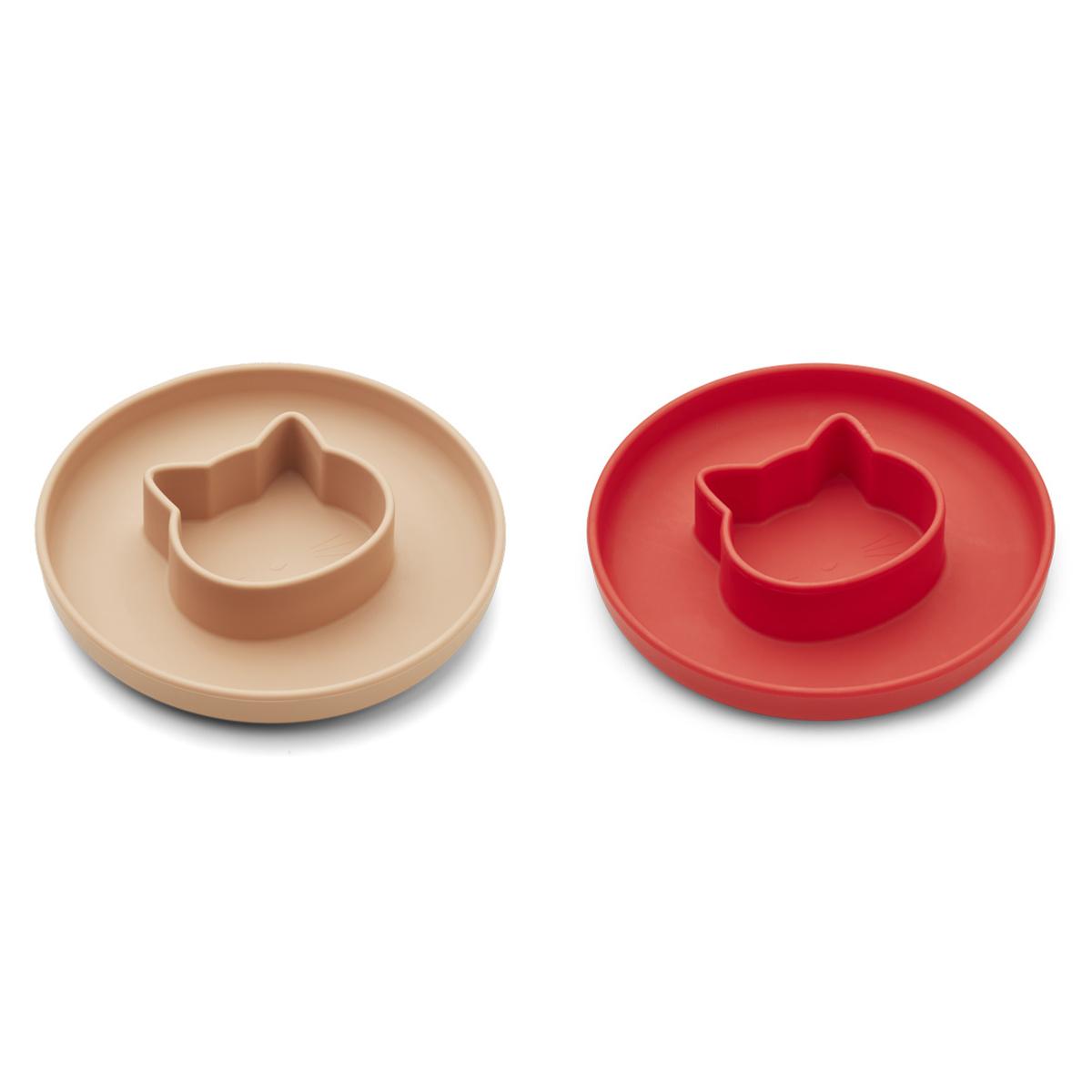 Vaisselle & Couvert Lot de 2 Assiettes Gordon - Cat Apple Red Tuscany Rose Lot de 2 Assiettes Gordon - Cat Apple Red Tuscany Rose
