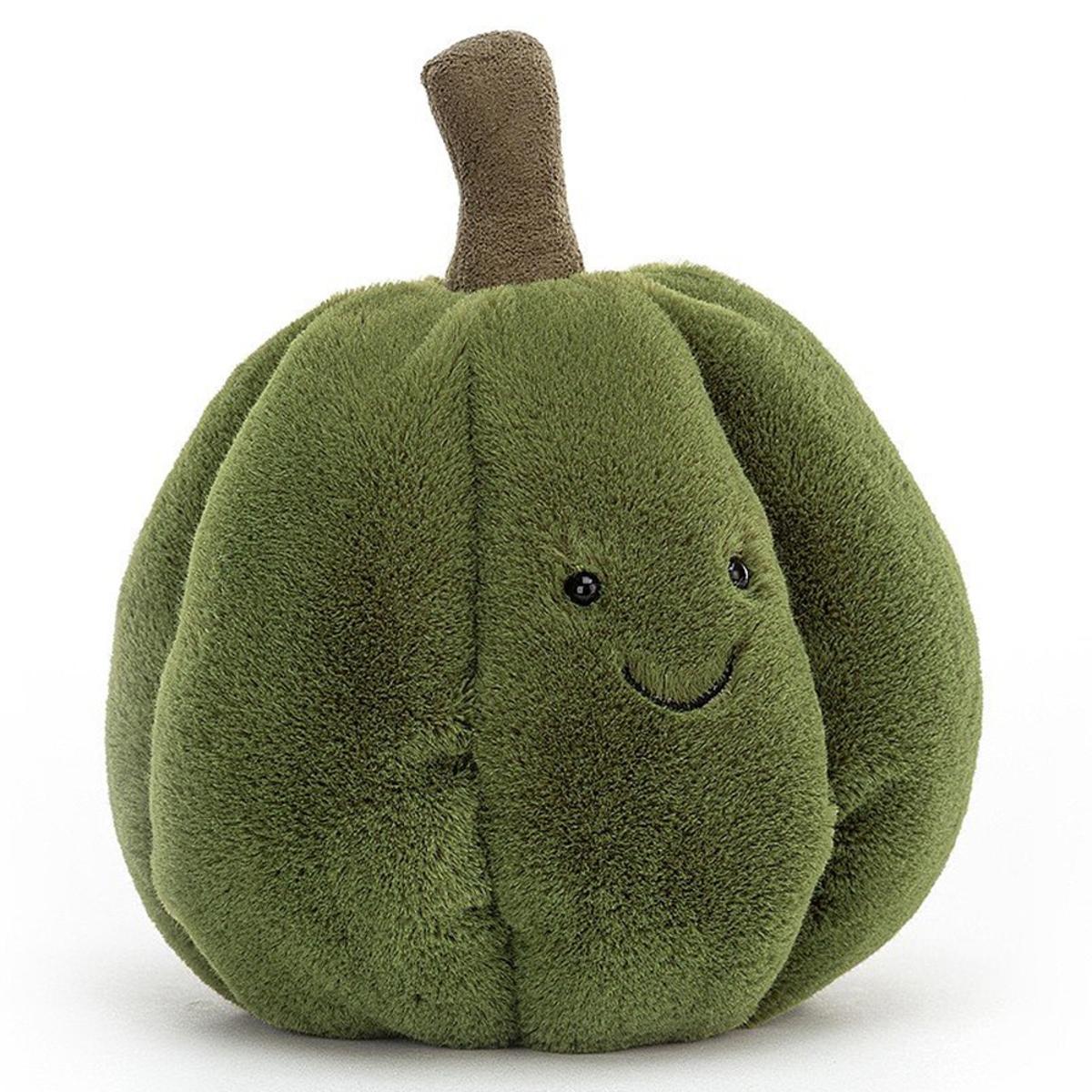 Peluche Squishy Squash Green Peluche Courge 18 cm