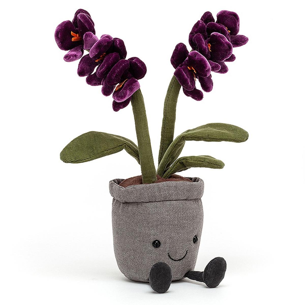 Peluche Amuseable Purple Orchid Peluche Orchidée 29 cm