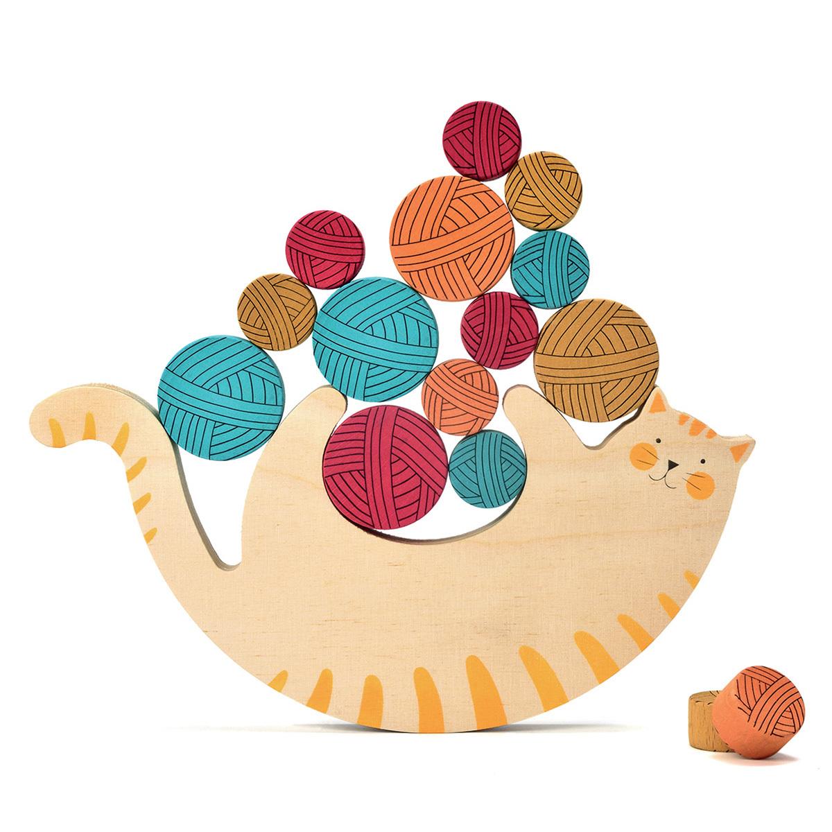 Mes premiers jouets Jeu d'Equilibre Miaou Jeu d'Equilibre Miaou