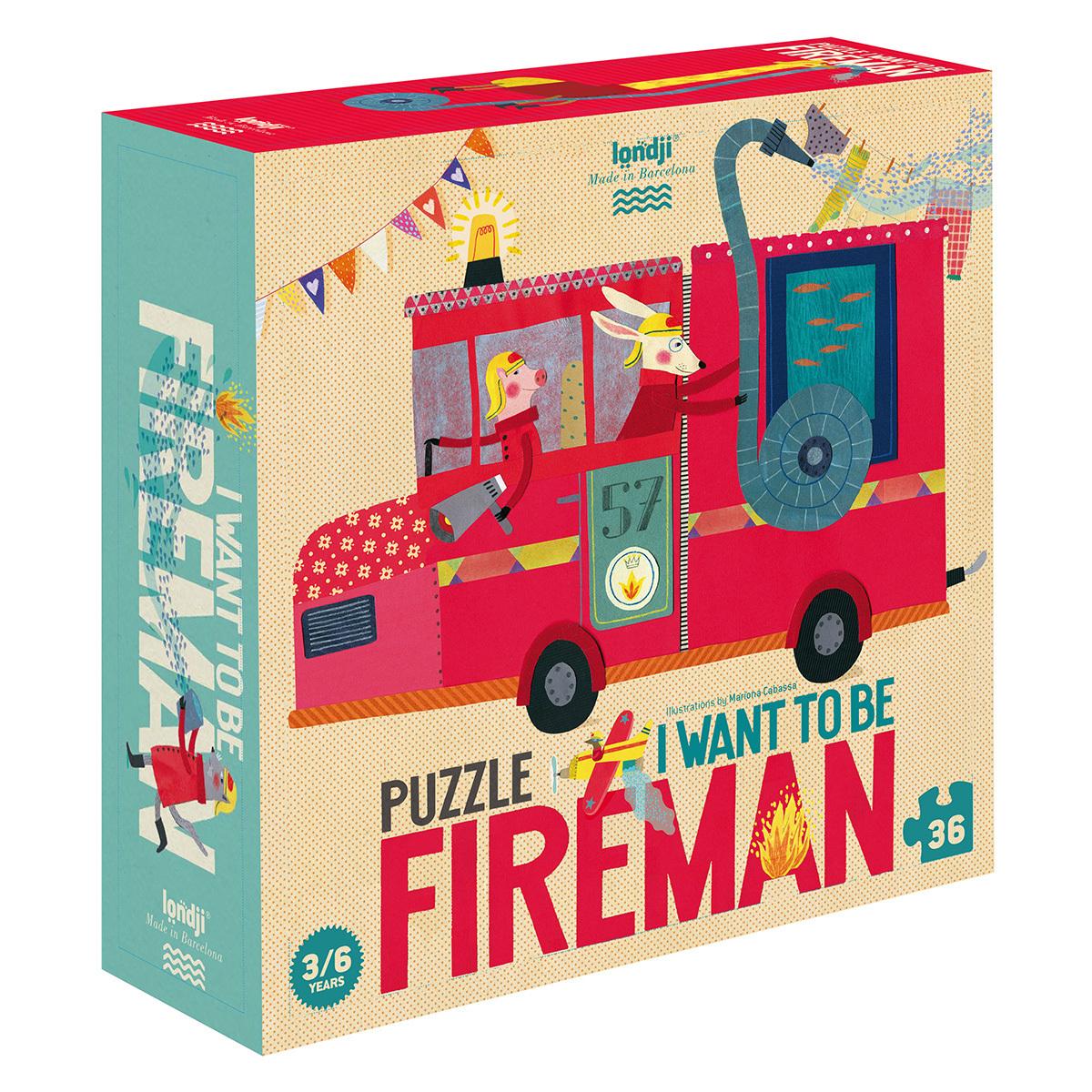 Mes premiers jouets Puzzle Je Veux Être un Pompier Puzzle Je Veux Être un Pompier