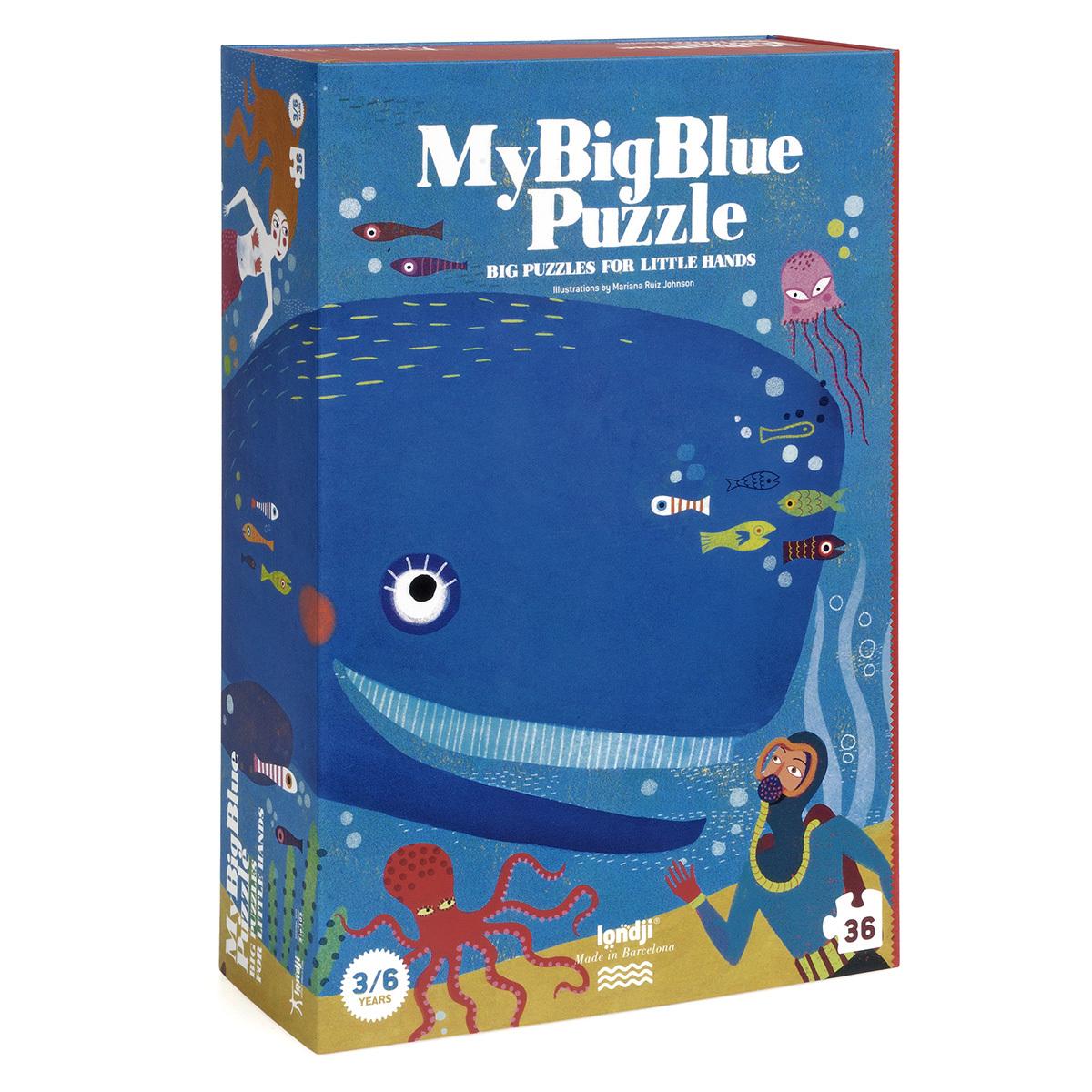 Mes premiers jouets Puzzle Ma Grosse Baleine Bleue Puzzle Ma Grosse Baleine Bleue