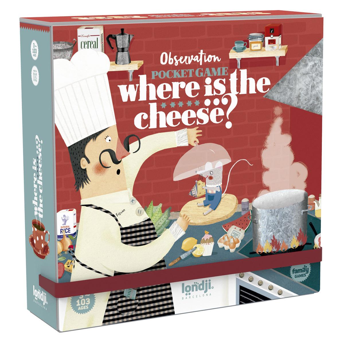 Mes premiers jouets Jeu de Poche - Où Est le Fromage ? Jeu de Poche - Où Est le Fromage ?