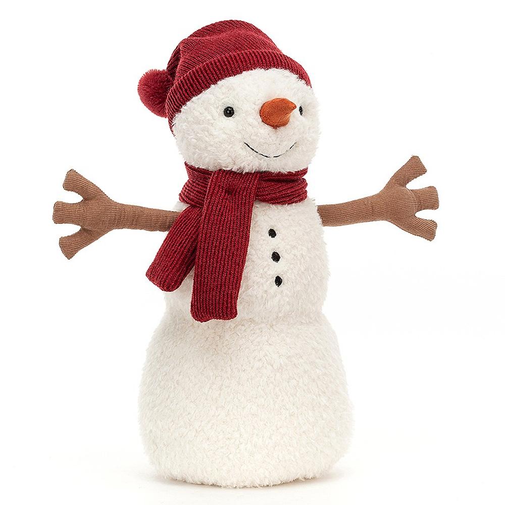 Peluche Teddy Snowman - Large Peluche Bonhomme de Neige 34 cm