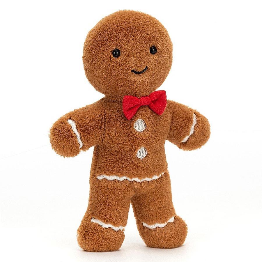 Peluche Jolly Gingerbread Fred Peluche Bonhomme en Pain d'Epices 19 cm