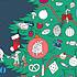 Acheter Omy Poster Géant à Colorier et Stickers - Christmas Tree