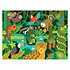 Petit Collage Puzzle de Sol La Forêt Tropicale