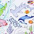 Super Petit Set de Table à Colorier et ses 5 feutres - Barrière de Corail Set de Table à Colorier et ses 5 feutres - Barrière de Corail