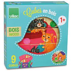 Achat Mes premiers jouets 9 cubes en bois Animaux