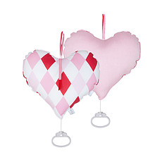 Achat Boite Boîte à musique coeur Lozenge pink & red