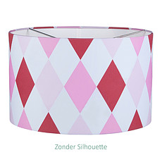 Achat Suspension  décorative Lustre rond 20 x 30 cm Lozenge pink & red