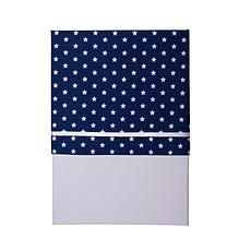 Achat Linge de lit Drap de Berceau - Bleu avec des Etoiles Blanches