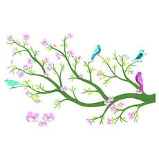 Achat Sticker Stickers muraux Cerisier 3D - Jade