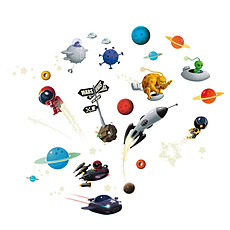 Achat Sticker Stickers Muraux Phosphonaute - Téo