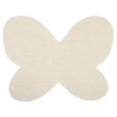 Achat Tapis Tapis Papillon en Fausse Fourrure - Blanc (140 x 100 cm)