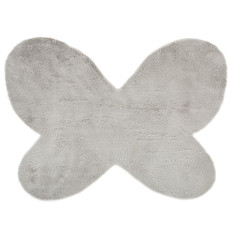 Achat Tapis Tapis Papillon en Fausse Fourrure - Gris Clair (140 x 100 cm)