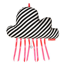 Achat Coussin Coussin musical Nuage rayures noires - Daft Punk - Get lucky