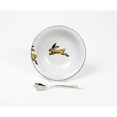 Achat Coffret repas Ensemble Bol en Porcelaine et Cuillère - Lièvre