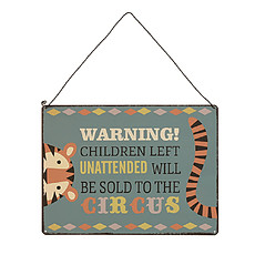 Achat Affiche & poster Plaque de Porte Warning ! Children