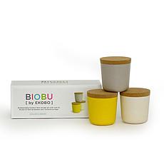 Achat Tasse & Verre Set 3 boites BIOBU Gusto Small Pierre / Citron / Blanc
