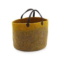"""Achat Boite & Sac Cabas avec poignées en cuir M  """"pollen"""" feutre"""
