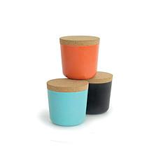 Achat Tasse & Verre Set 3 boites BIOBU Gusto Large Orange / Bleu lagon / Noir