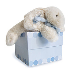 Achat Doudou Doudou Lapin Bonbon bleu petit modèle