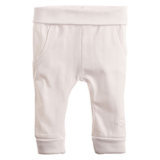 Achat Bas Bébé Pantalon en Jersey Blanc Humpie - 6 Mois