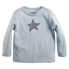 Achat Hauts bébé Tee-shirt Manches Longues Bleu Ciel Monsieur - 3 Mois