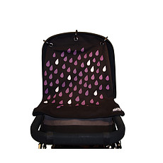 Achat Ombrelle et protection Rideau de Poussette Baby Peace - Pluie Rose et Noir