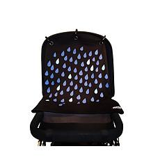 Achat Ombrelle et protection Rideau de Poussette Baby Peace - Pluie Bleu et Noir