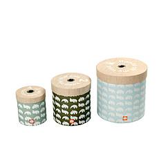 Achat Boite & Sac Lot de 3 boîtes de rangement rondes - Bleu