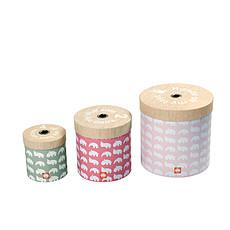 Achat Boite & Sac Lot de 3 boîtes de rangement rondes - Rose