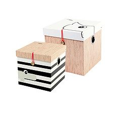 Achat Boite & Sac Lot de 2 boîtes carrées