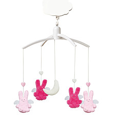 Achat Mobile Mobile Musical Ange Lapin Fuschia & Rose