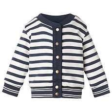 Achat Outlet Cardigan Sweat Réversible Marine TY - 1 Mois