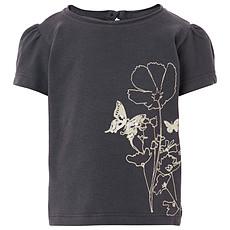 Achat Hauts bébé Tee-shirt Manches Courtes Fleurs Violet LYN - 3 mois