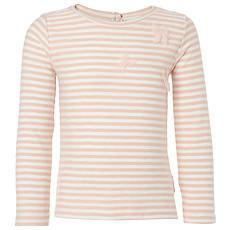 Achat Hauts bébé Tee-shirt Manches Longues à Rayures Rose Clair PIX - 12 mois